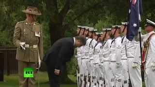 Поклон Порошенко почетному караулу в Австралии удивил блогеров