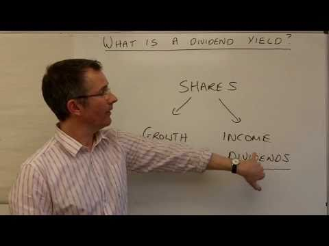 What is a dividend yield?
