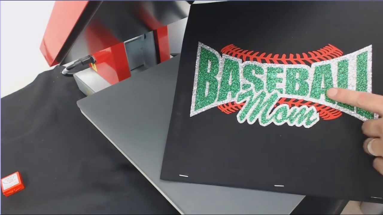 How To Make And Heat Press A Custom Baseball Mom Glitter