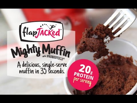 Packing 20g of Protein, FlapJacked Mighty Muffins Cook in 35 Seconds.