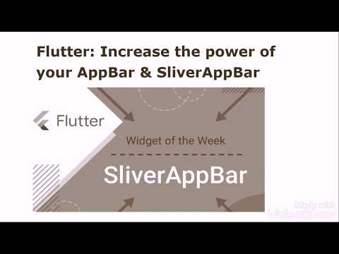 Flutter: Increase the power of your AppBar & SliverAppBar