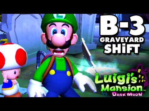 Luigi's Mansion Dark Moon - Haunted Towers - B-3 Graveyard Shift (Nintendo 3DS Gameplay Walkthrough) - Smashpipe Film