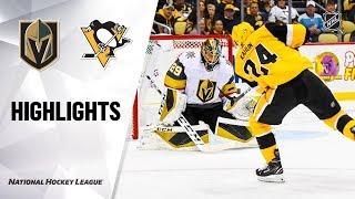 Golden Knights @ Penguins 10/19/19 Highlights