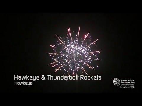 Fantastic Fireworks Hawkeye & Thunderbolt Rockets - Pack of 2