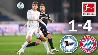 Müller & Lewandowski Score Both Two Goals | Arminia Bielefeld - FC Bayern München | 1-4 | Highlights