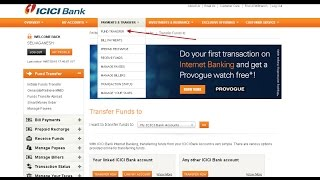 How to add a payee + transfer money from ICICI to other banks online using netbanking