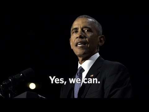 The Final Minutes of President Obama's Farewell Address: Yes, we can.