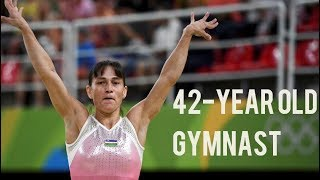 42 year old gymnast (competed at RIO 2016)