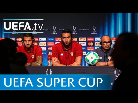 Sevilla prepare for the UEFA Super Cup