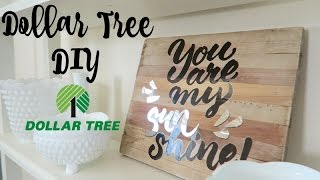 Dollar Tree DIY | Wall Decal Project
