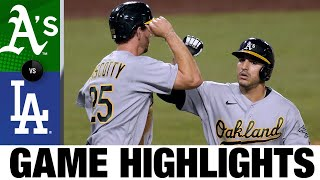 Ramón Laureano hits go-ahead homer in 9th in A's win | A's-Dodgers Game Highlights 9/23/20