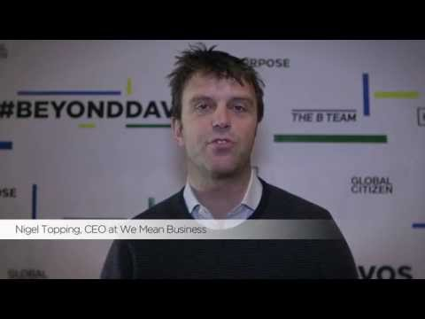 #BeyondDavos - Nigel Topping, CEO at We Mean Business