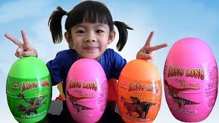 Dinosaur Surprise Eggs Opening – Săn Và Bóc Trứng Khủng Long ❤ AnAn ToysReview TV ❤