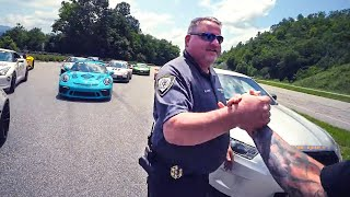 COP PULLS OVER 9 SUPERCARS AT ONCE!  *ACE SPADE DAY 4*
