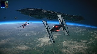 Star Wars Battlefront II - Starfighter Assault Gameplay PS4 60fps (No Commentary)