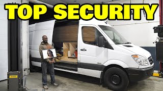 Installing a security system in our homeless assistants off grid camper van