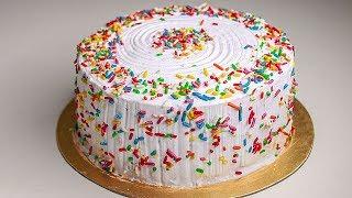 Funfetti Cake | Funfetti Birthday Cake | Vanilla Funfetti Cake | Yummy Tasty Cake Recipe
