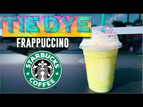 Trying Starbucks Limited TIE-DYE Frappuccino