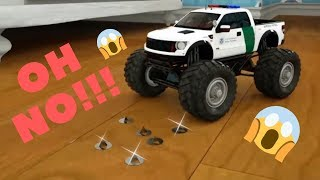 learn shapes with police truck - rectangle tyres assemby - cartoon for kids