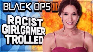 BO2 - MESSING WITH RACIST LESBIAN GIRL GAMER / SP33DY FAN! (COD BO2 TROLLING)