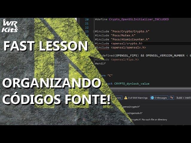 COMO ORGANIZAR CÓDIGOS FONTE EXTENSOS (DICA MUITO ÚTIL)