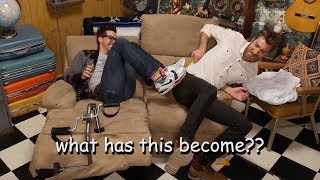 rhett and link behaving like children for 6 minutes straight