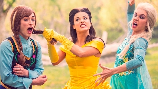 BEAUTY AND THE BEAST vs FROZEN DANCE BATTLE! // ScottDW - Bellsa