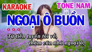 Karaoke Ngoại Ô Buồn Tone Nam Nhạc Sống | Mai Thảo Organ