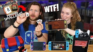 My Girlfriend & I Buy WEIRD Nintendo Switch Accessories!
