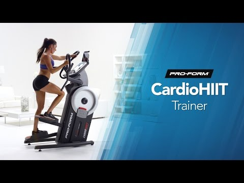 video ProForm Cardio HIIT Elliptical Trainer