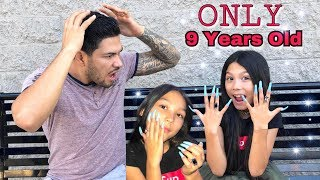TXUNAMY GETS SUPER LONG ACRYLIC NAILS (First Time) | Familia Diamond