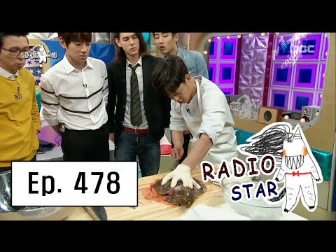 [RADIO STAR] 라디오스타 - Radio Star's first 'fillet raw fish' air! 20160518