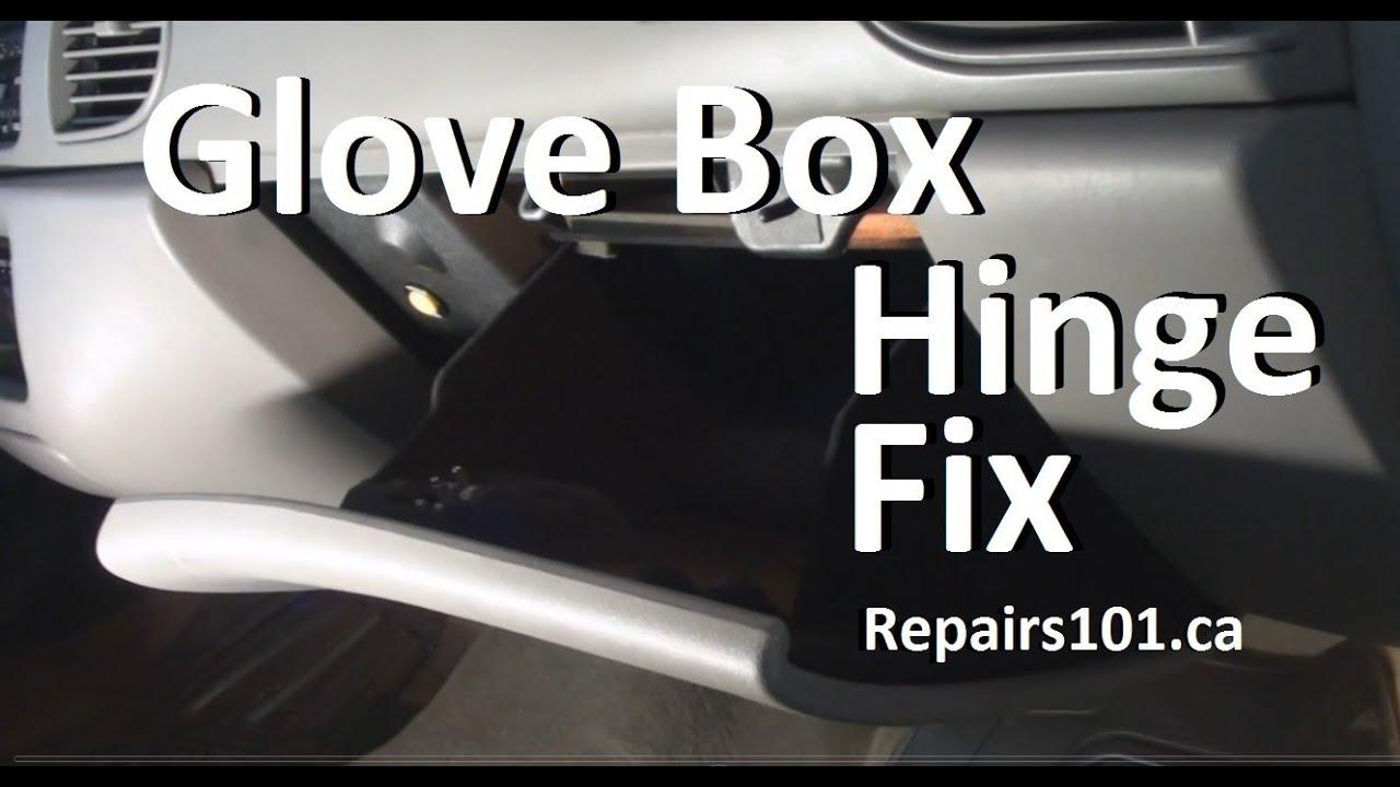 Glove Box Hinge Fix Youtube