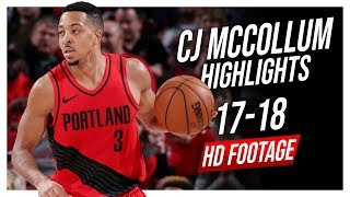 Blazers SG CJ McCollum 2017-2018 Season Highlights ᴴᴰ