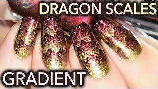 Dragon Scales nail art! (aka Triple Scaled gradient)