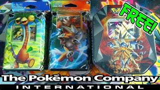 THE POKEMON COMPANY INTERNATIONAL SENT ME THESE POKEMON PRODUCTS TO OPEN FOR YOU!