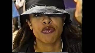 Aaliyah Back Stage Before Concert ( rare footage)