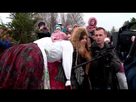 Празднование Масленицы в Малых Корелах под Архангельском 22 февраля 2015 года