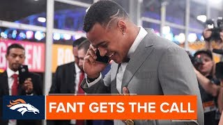 First-round pick Noah Fant gets the call from the Broncos