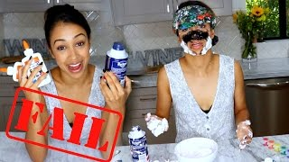DIY SLIME BLINDFOLDED!! (GONE WRONG)
