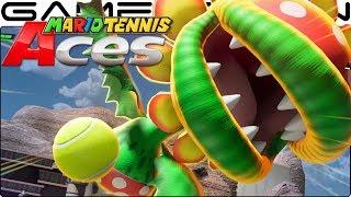 Mario Tennis Aces - Petey Piranha Gameplay + Special Shot (December Tournament Reward!)