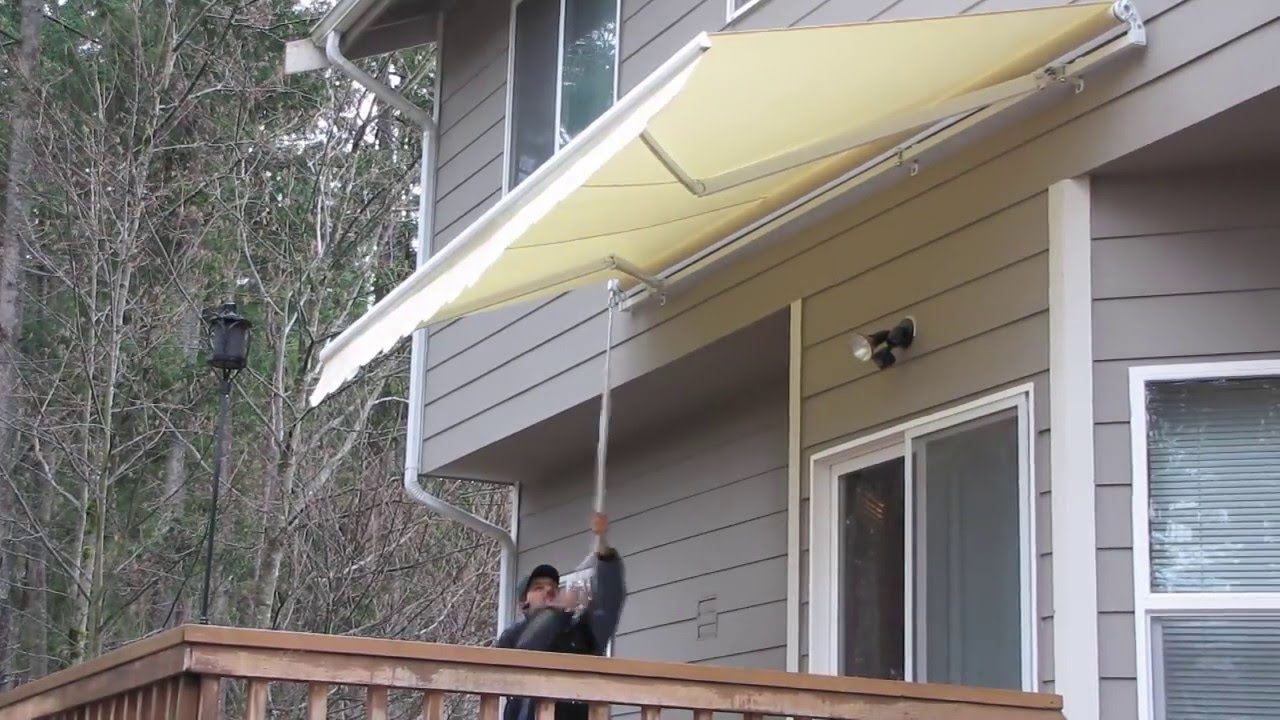 Aleko 174 Retractable Awning Youtube