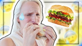 Pescatarian Tries RED MEAT! (Cheeseburger)