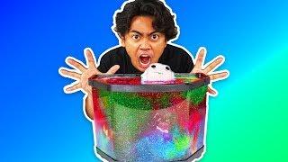 I Put All My Slime in Aquarium ~ Fish Tank Goo