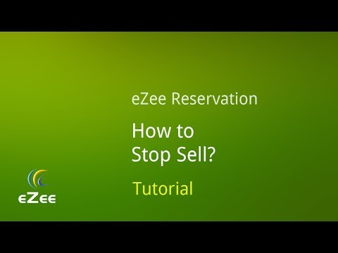 How to Stop Sell using eZee Reservation, Online Hotel Booking Engine