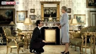 The Queen Meets Dame Helen Mirren At Palace