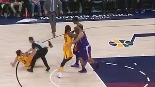 Marquese Chriss Shoves Ricky Rubio & Fight Breaks Out Between Suns And Jazz Players! Suns vs Jazz