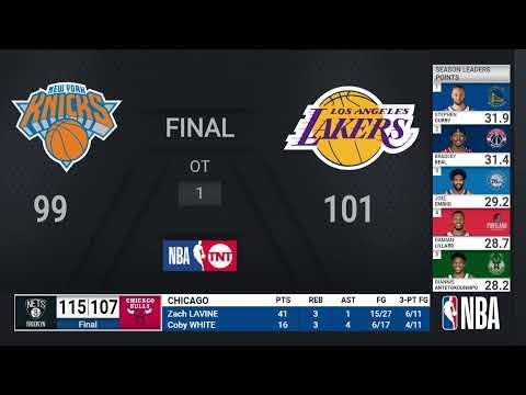 Knicks @ Lakers | NBA on TNT Live Scoreboard