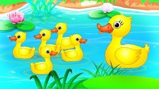 ห้าเป็ดน้อย | บ๊องสำหรับเด็กในไทย | Five Little Ducks Rhyme