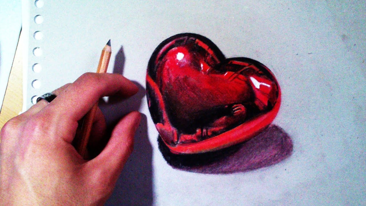 How To Draw A Realistic Love Heart